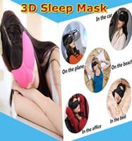 Wholesale 3D Sleep Mask Portable Soft Travel Sleep Rest Aid Eyeshade Cover Eye Patch Sleeping Mask Cas