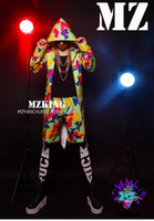 beautiful team - Male singer clubs in Europe and the catwalk dazzle beautiful camouflage hooded costumes teamed S xl