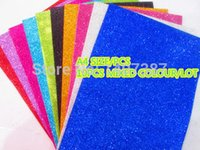 Wholesale 10PCS mixed colour A4 size glitter EVA craft Paper for DIY craft puncher