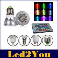 Wholesale E27 E26 E14 GU10 MR16 W RGB Led Lights Memory Color Changing For Chritmas Party Lighting Keys IR Remote Control