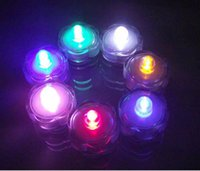 Wholesale Halloween LED Submersible Waterproof Candle Tea Lights Wedding Party Home Decoration Christmas Gifts night light table lamp lights tree lase