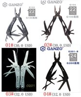 Wholesale 100 Original Ganzo G103 G104 G201 G201B G202 G202B G301 G301B G301H G302B Multi Pliers Tools knife high Quality Camping Tool styles