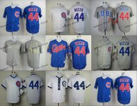 Wholesale chicago cubs anthony rizzo Cheap Wholesales Baseball Jersey Embroidery Name and Logo EME DHL