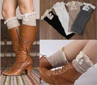 Knitted Boot Socks Over the Knee Button Socks by ThreeBirdNest Women Fashion, Boots And Knee