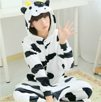 adult novelty products - New product Festival Carnival Novelty Animal Anime Milk Cow Autumn winter hooded pajamas Adult one piece Halloween Cosplay Costume