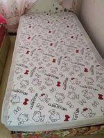 Wholesale hello kitty waterproof mattress cover bedsheet cotton bed protection pad Waterproof Mattress Protector Cover