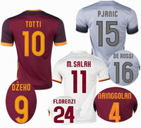 quality white shirts - ROMA TOTTI DE ROSSI M SALAH Thailand Quality Soccer Jersey Brand New Soccer Shirt Free Customized