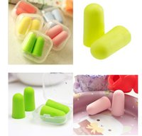 Wholesale 2016 new hot Soft Foam Ear Plugs Tapered Travel Sleep Noise Prevention Earplugs free service cheap product