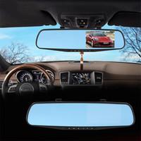Precio de Cámaras de lentes de porcelana-Espejo del coche DVR de doble cámara de 4,3