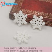 resin cabochons - 50pcs mm Resin Christmas Glitter Snowflake Flower Flatback Cabochons Embellishent For Winter Crafts Card making Scrapbooking