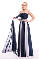 Wholesale In Stock Real Photo New Fashion Evening Gowns Chiffon Backless Ombre Prom Party Yourslef Aljasmi Dress Celebrity Black White Dresses