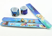 Wholesale Christmas Gift popular Frozen Magic Ruler Slap Band Bracelets bangles Anna Else and Olaf toys Children s gift
