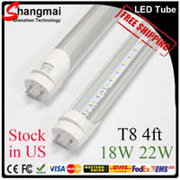 Wholesale 2ft ft feet T8 LED Tube Lights W W W SMD2835 Led Fluorescent Bulbs mm V V CE RoHS FCC