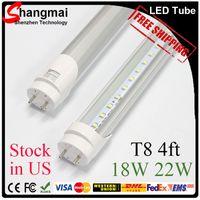 Wholesale 4 feet T8 LED Tube Lights W W W SMD2835 Led Fluorescent Bulbs mm V V CE RoHS FCC