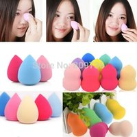 Wholesale 1PC New Hot Drop Gourd Sponge Powder Puff Flawless Foundation Makeup Beauty Foundation Blender Make Up Tool Free Ship