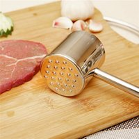 Wholesale Hot Sales Meat Tenderizers Hammer Steak Beef Pounders Beater Poultry Mallet Tools Stainless Steel Circular C127