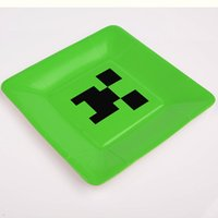 Wholesale Minecraft Creeper Paper Plate For Birthday and Big Event supplies
