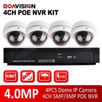 al por mayor kits de videovigilancia-sistema de NVR de la cámara de 4 canales HD 4 MP POE NVR Kit de tiempo al aire libre 4.0MP domo IP de Vigilancia CCTV Sistema de grabación de vídeo CMS / P2P Ver
