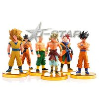 action figure bases - Dragon Ball Figures with Yellow Bases The th PVC Action Figure Model Collection Model Toy per set