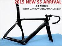 Wholesale Aero S5 Road Bicycle Framesets Toray T800 Carbon Fiber Road Bike Frames with Handlebars UD Weaves BBRIGHT Bottom Brackets