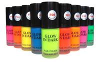 Wholesale BEAUTY Hot Sale ml Colors choose piece Fluorescent Luminous Neon Paint Nail Art Glow In the Dark Varnish Nail Polish