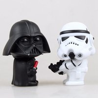 Wholesale 2pcs set cm Q Style Star War Darth Vader STORM TROOPER Action Figure Model Toy Come with Retail Box