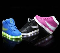 Unisex steve madden - Child Sports Athletic Boots New Style Brand Children Shoes Baby Shoes Spring Kids Sneakers Baby Boys Girls Stylish LED Light Luminous J4559