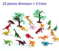 Wholesale Jurassic Park Vivid Dinosaur Kit Inched Dinosaurs and Trees for Little Kids Pieces Trees a Set Sets