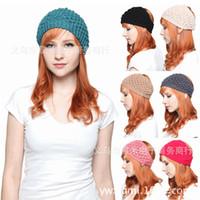 knit headband - High quality knitting wool hair hoop head band Han edition accessories hair hair band