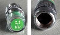 bar coding systems - 2 bar Car Tyre Tire Pressure Monitor Indicator Tpms Monitoring System Cap Sensor Color Eye Alert Pressure Vacuum Testers