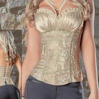Wholesale Goth Vintage Overbust lace Sexy Boned corset Women s Bustier Plus SIZE S XL