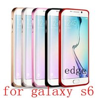 Wholesale For Galaxy S6 S6 Edge Aluminum Metal Bumper with Hippocampal Buckle Luxury Colorful Cell Phone Case for Samsung G9200 G9250 cases hotsell