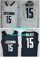 baseketball jerseys - Factory Outlet Uconn Huskies Kemba Walker Jersey White Blue Stitched College Baseketball Jersey Embroidery Logo