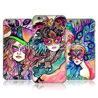 mobile phone market - Fashional woman with mask plastic mobile phone case hot selling natural material for Iphone from China market