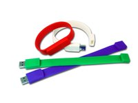 Wholesale Colorful Silicone Bracelet Wristband USB Flash Drives With Full Capacity