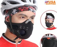Wholesale US Stock to USA Outdoor Sports Air Pollutant Filter Mask Bike Traveling Motorcycle Face Mask Open air Activities Protection