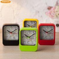 Wholesale 10pcs Novelty Playable Maze Game Plastic Needle Running Alarm Clock Home Office Desktop Alarm Clocks Retail