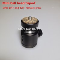 swivel ball mount - NEW Arrival Metal Mini Ball Head with quot and Screw Mount degree swivel Tripod for DSLR DC Camera LED