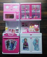 Wholesale Frozen Elsa Anna Doll Kitchen New Modern Kitchen Toy Action Figure for Girls Birthday Christmas Gifts cm