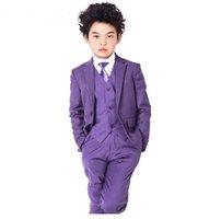 Wholesale hot sale little boys suits Children s suit jacket Pure color boy s suit Male flower girl dress springsummer new fashion