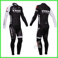 Wholesale Trek Cycling Jersey Set Long Sleeve Winter Thermal Fleece Padded Trousers Road Bicycle Colthing High Quaity Warmer Cycling Wear