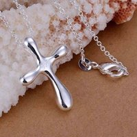 large cross jewelry - P105 fashion jewelry chains necklace sterling silver pendant Large water droplets cross pendant mvwf rirs