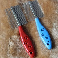 Wholesale High Quality Stainless Steel Anti static Pets Hair Grooming Two sized Dense Comb Tooth Slicker New
