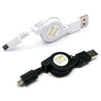 Wholesale 1 X Universal Micro USB A to USB B Male Retractable Data Sync Charger Cable Cord