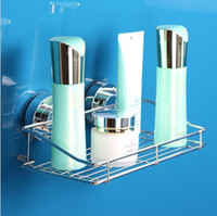 Wholesale Stainless Steel Shower Caddy with Rotate Lock Suction Cups Bathroom accessories shower basket shelf