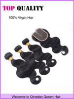 Wholesale Grade A Hot Sale Peruvian Virgin Hair Body Wave Wavy Hair With Closure Silk Lace Closure With Bundles Human Hair With Closure