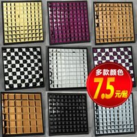 bevel mirrors - Gold Cube mosaic mirror edging sided glass bevel perspective KTV red and black silver gold silver tea powder mirror