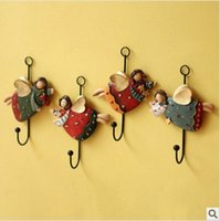 Wholesale resin pendant fat angel hanging coat hook Resin crafts