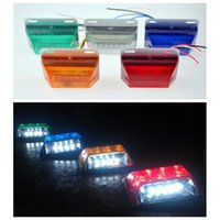 Wholesale 7 Color V LED Waterproof Bus Truck Trailer Lorry Side Marker Indicator Light Side Lamp with Package