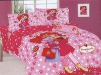 bedspread shop - Moranguinho Strawberry Window Shopping Girl Bed Sets Duvet Covers Cotton Twin Spots Polka Dots Bedspreads Bedding Comforter Set